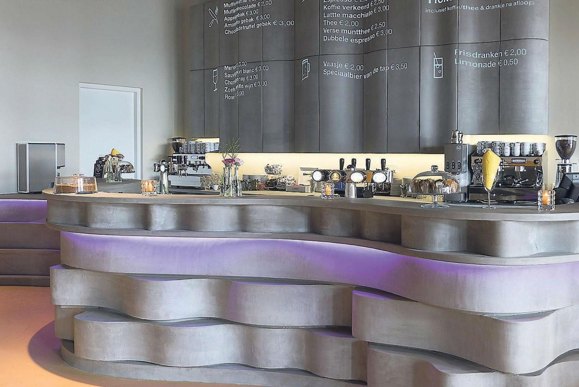 Audreys Beton Design - MORTEX bar voor filmhuis Alkmaar