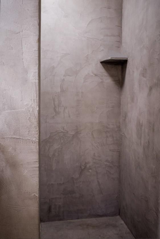 Audreys Beton Design - Mortex in de badkamer